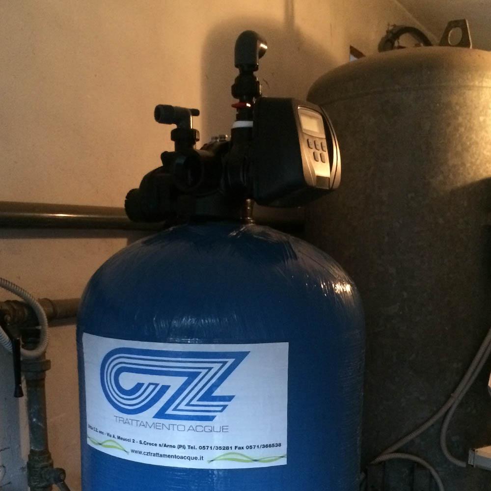 cz trattamento acque impianti depurazione acqua filtrazione addolcimento osmosi inversa - addolcitore residenziale 100