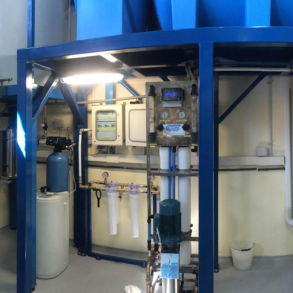 cz trattamento acque impianti depurazione acqua filtrazione addolcimento osmosi inversa - dissalatore trattamento acque industriali RS-CZ 1200