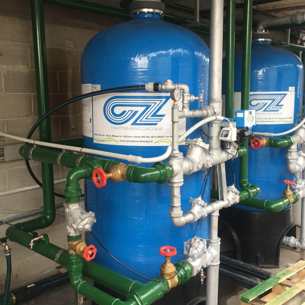 cz trattamento acque impianti depurazione acqua filtrazione addolcimento osmosi inversa - addolcitore WS 400-30