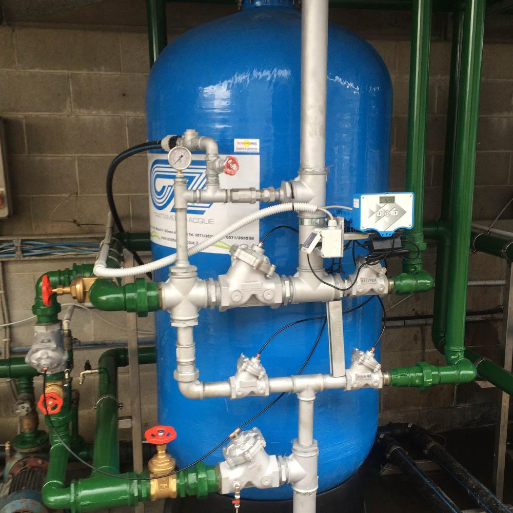 cz trattamento acque impianti depurazione acqua filtrazione addolcimento osmosi inversa - addolcitore WS 250-21